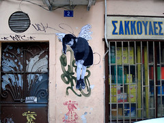Angel II by Dagas (server pics) Tags: street urban art girl angel graffiti calle mural arte kunst athens greece grecia psiri atenas writers writer strase grce  pintura  grafite athen griekenland  athnes           athensstreetart      maurals    artedelacalledeatenas serverpics