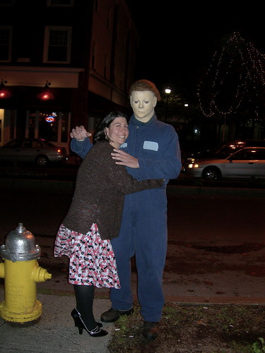 Mike Myers and a fan. Halloween in Salem Flickr: coffeesnob's Photostream