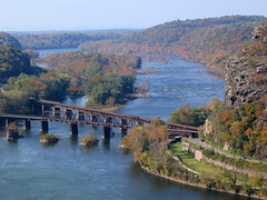 Harpers Ferry Bridges (little-wings) Tags: autumn fall 2006 westvirginia harpersferry   wva explored