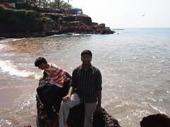 me watching a crab with kallu (Ravi Kamdar) Tags: tour goa ravi kamdar