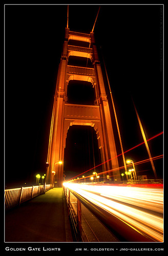 Golden Gate Lights architecture photograph by Jim M. Goldstein