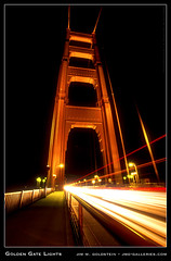 Golden Gate Lights (jimgoldstein) Tags: sanfrancisco california road longexposure bridge bravo traffic highway1 goldengatebridge span lightstreak jmggalleries superaplus aplusphoto jimmgoldstein