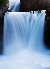 St. Mary Falls - Glacier National Park (mega mark) Tags: park blur nature water canon wow waterfall nationalpark movement long exposure mark glacier national glaciernationalpark goff gnp 85points abigfave superaplus aplusphoto megamark markgoffphotography markgoffimages