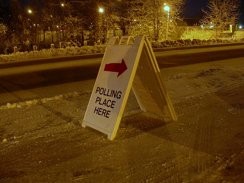 Polling place here