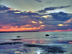 Sunset at Shtromka (dgaponenko) Tags: sea sky water clouds scenery tallinn estonia hdr tallin hdri talinn mytop talin 3xp photomatix mytop9