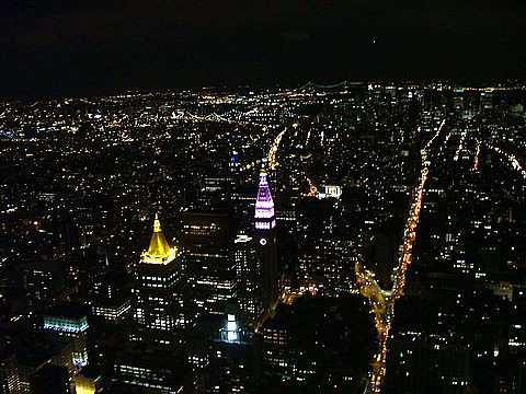 N.Y.C.. a skyline from Empire State Building
