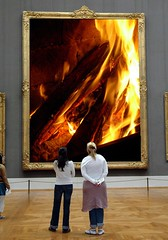 Flame (Cremo) Tags: people orange hot brick yellow finland painting fun fire interesting fireplace flickr mosaic flames picture warmth peoples burning campfire flame burn heat string ash framework spark interest firewood embers ruffle parquetfloor dumpr museumr stickofwood