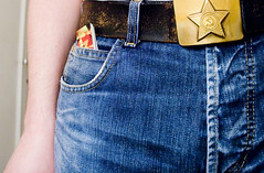 At last, a use for the mini-pocket of our denim jeans (mrjorgen) Tags: blue selfportrait oslo star belt flickr meta moo jeans trousers denim bluejeans buckle selvportrett beltbuckle metaflickr minicards visittkort underskogno minikort moominicards flickrmoo sjerne beltespenne flickrmoominicards dongerybukse