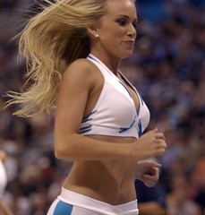 Honeybee Hustle (Sooner Shooter) Tags: new favorite woman color girl basketball digital wow dallas interesting fantastic nikon orleans flickr great dancer best fave explore pi most blonde excellent shooter cheerleader okc sooner nba hornets mavs d1x c2005johnalexanderferrante