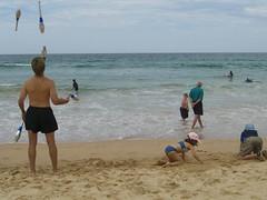 Manly beach on a Sunday
