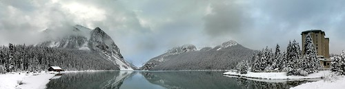 Panoramic view of Lake Louise