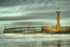 Whitby's West Pier...... (Tall Guy) Tags: uk england 1025fav canon wow landscape photography coast photo photos britain yorkshire photograph enjoy whitby northyorkmoors eastcoast tallguy subtlehdr abigfave