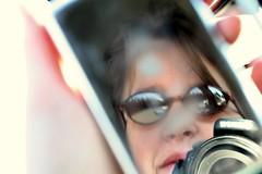 Hi (Hotash) Tags: reflection me car digital truck canon us waiting ipod nissan reflected porsche today ipodtrait 3waychallenge photonow 3wayreflectionsofyou