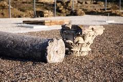Fallen column (Bruno Girin) Tags: espaa house broken andaluca spain ruins roman planetarium column santiponce itlica