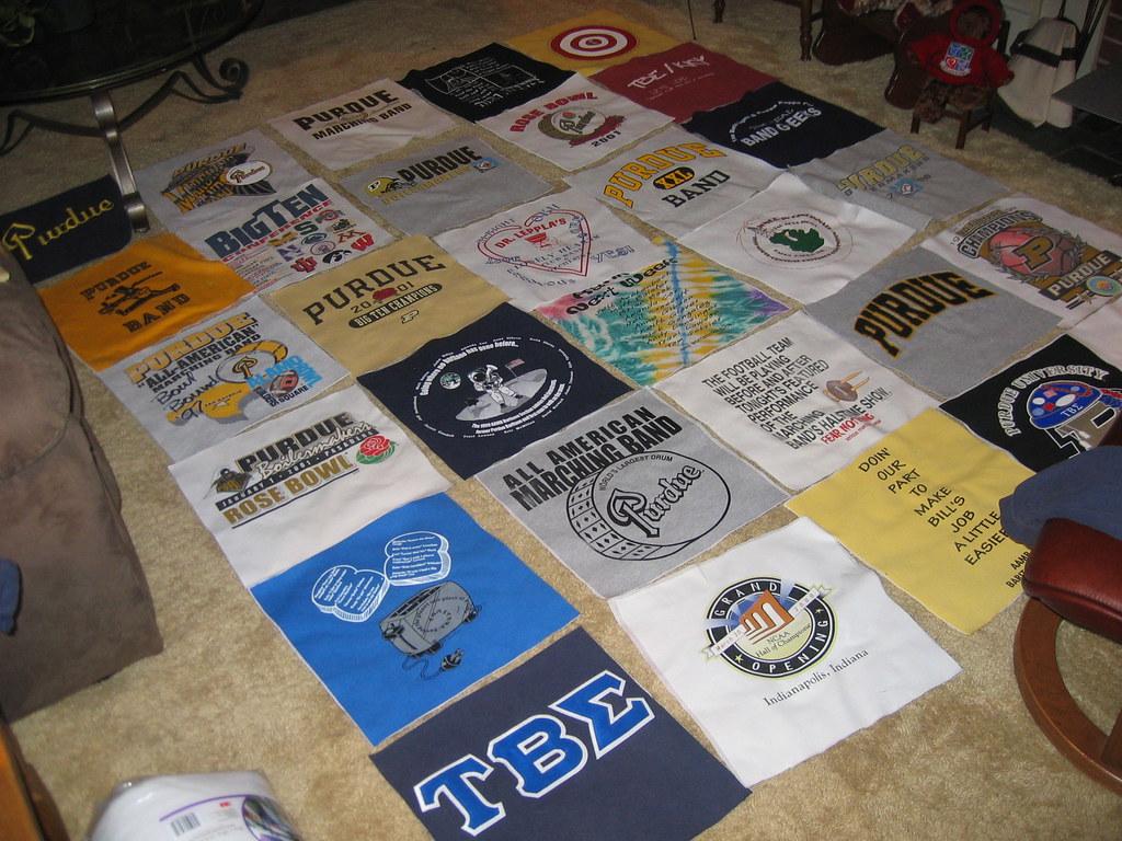 T-shirt Quilt without sashing