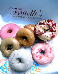 frittelli's cake doughnuts (chotda) Tags: cake shop breakfast dessert losangeles donuts donut doughnut pastry beverlyhills fried doughnuts frittellis