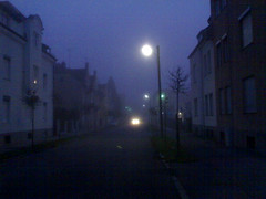 Fog in Furstenfeldbruck (Bruck) (FOAFknowsAlice) Tags: fog germany contextwatcher geotagged cellmcc262 furstenfeldbruck addresspostalcode82256 cellmnc2 celllac903 timehour7 addresstimezonegmt1 addresscontinenteurope addresscountrygermany addresssubdivisionbayern addresscityfurstenfeldbruck clusterurispaceowlhome cellcid229671576 clusternumber3 addressstreetpruggmayrstrase clusternamebruck geolat481771005 geolon1125610359 locationrange1332 locationkinghenkeertink pressurechangesteady tstormlow uvmaxlow uvlow precipnone rainnone snownone humidityhigh direast forcelightbreeze condfoggy sunlighttwilight tempmaxverywarm tempminratherwarm moonstatewaxingcrescent feelmaxverywarm feelminnormal feelnormal tempwarm clusterlatitude481780839440118 clusterlongitude112556950924547 visibilitylow