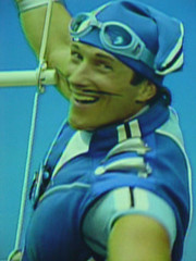 20061126 - I love it when he winks. (sadalit) Tags: blue television tv hero crush lazytown sportacus magnsscheving sporticus