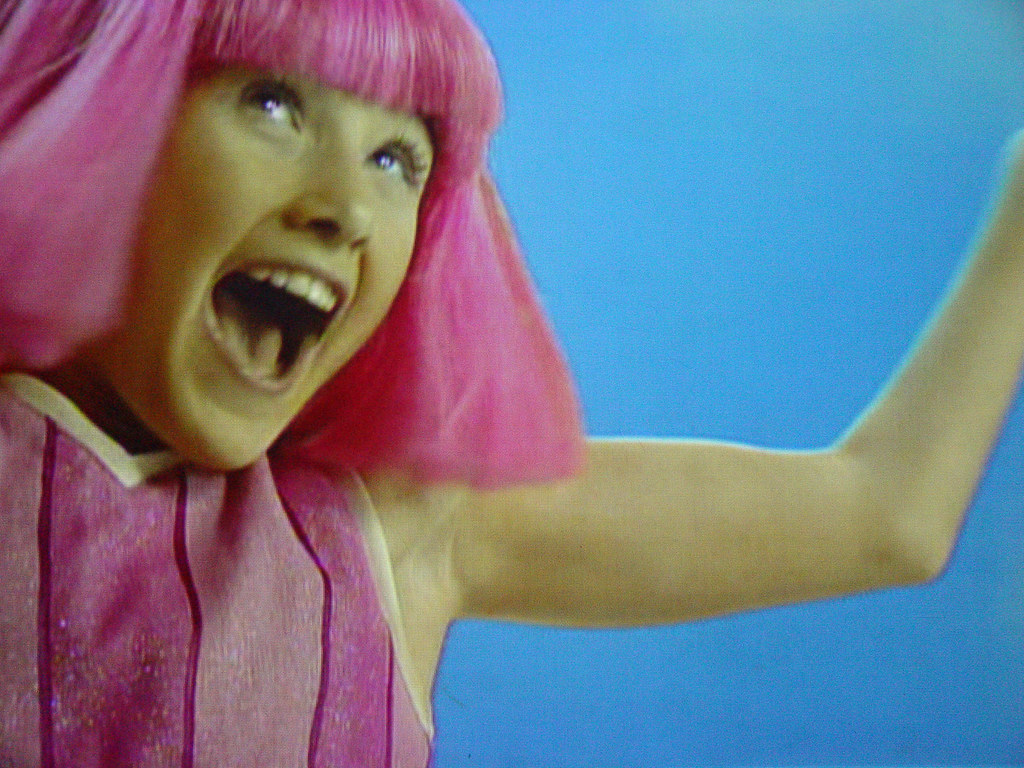 the pink bitch from lazy town