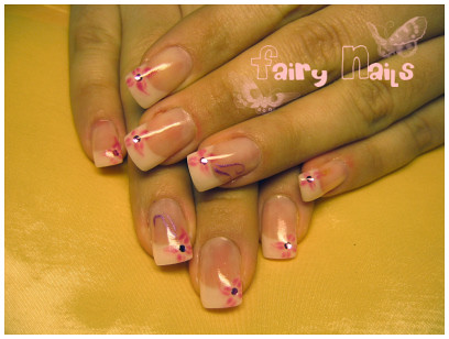 nail art gallery, Pink nails flowers, nail art designs, nail polish gallery, Pink flowers nail art gallery design, nail art designs gallery