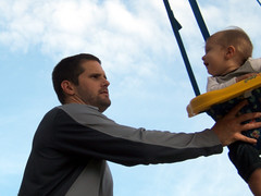 Father swing son