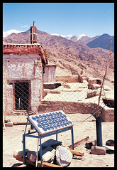 Solar panels in Ladakh - by Barefoot Photographers of Tilonia