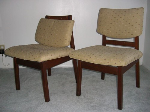 Jens Risom padded dining chairs - $50each BARGAIN