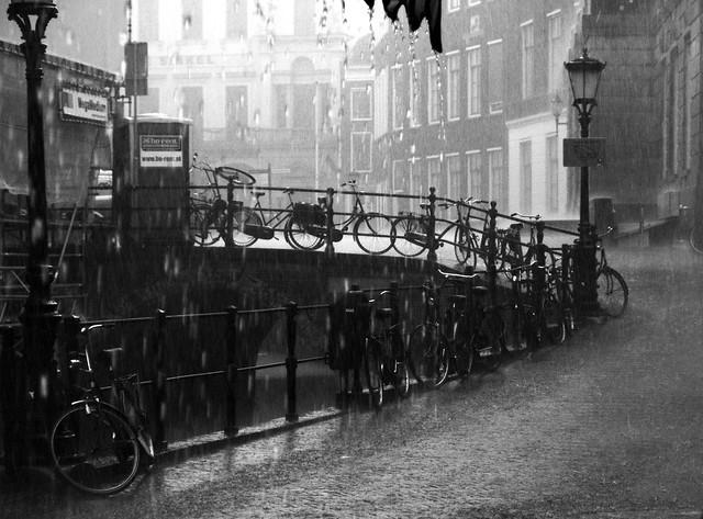 ...and raining