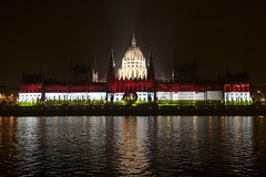 Hungarian Parliament (*Mosi*) Tags: building architecture night europe hungary budapest parliament 1956 parlament orszghz canoneos30d