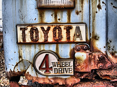 They don't make 4's like they used to... (Desolate Places) Tags: new york wheel truck drive 4 poughkeepsie toyota land plow cruiser rustyandcrusty fj40