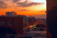 Dawn from my window (eqqman) Tags: city urban orange sunrise dawn kentucky louisville