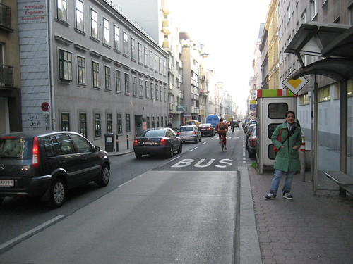 Vienna bus/bike lane