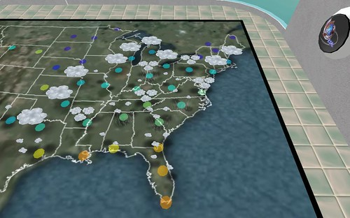 NOAA live weather simulation