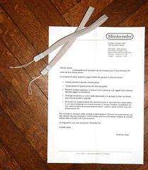 Nintendo kept their word (Sciamano) Tags: italien italy milan d50 nikon italia milano nintendo sb600 replacement nikond50 strap letter lombardia straps lettera mailand wii laccio wiimote wiimotes ricambio laccetto