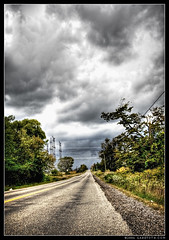 Finding The Way (gabe.toth) Tags: road sky storm clouds 350d hdr approachingstorm photomatix gabetothcom