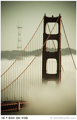 Golden Gate Bridge & Sutro Tower (SFMONA) Tags: sanfrancisco fog marin foggy twin goldengatebridge headlands peaks sutrotower waterways photooftheday peopleschoice ggb contemporaryarchitecture mywinners firsttheearth wowiekazowie ysplix 27sept2006