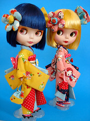 the outfits they were born to wear (Super*Junk) Tags: pepper dolls curry blythe kimonos jamfancy christinaknowshershit