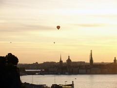 Stockholm II ( B i b b i ) Tags: view sweden stockholm churchtower hotairballoon sverige utsikt luftballong kyrktorn