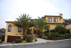 Redondo Beach Home (Pat's Travelogue) Tags: trees beach home palm mustard redondo entrace