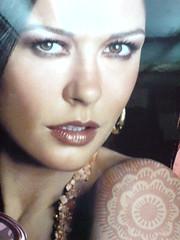 The day I met Cathrine Zeta Jones in the Elevator! (radiant guy) Tags: portrait woman celebrity beautiful lady female wow jones amazing awesome dream makeup catherine henna zeta breathtaking hena catherinezetajones sonyericssonk800i