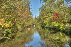 Down-the-canal-kayaks-3 (jason_minahan) Tags: autumn tree fall nature canal newjersey nj princeton hdr mercercounty xti