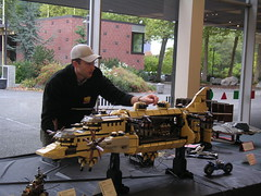 Dave DeGobbi with his Goliath Airship (Dunechaser) Tags: lego airship conventions goliath laputa castleinthesky  steampunk hayaomiyazaki  nwbrickcon  nwbc2006 davedegobbi