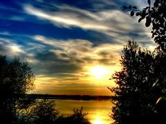 Sunset - Reflection (majeczka_majeczka) Tags: sunset sky water beautiful landscape fantastic picture hdr zachod niebo thebp majeczkamajeczka