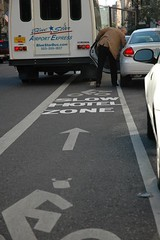 Hotel zone bike lane