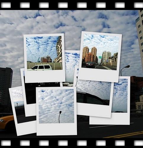棉花糖般的台北的天空
