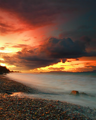 Red sky at night (Sean Bolton (no longer active)) Tags: sea beach water geotagged coast rocks hellas pebbles greece coastal rodos rhodes wfc rhodos ixia dodecanese seanbolton geo:tool=gmif p1f1 naturetrophy geo:lat=36419232 geo:lon=28176820 welshflickrcymru travelerphotos frhwofavs ffotocymrucouk ffotocymru