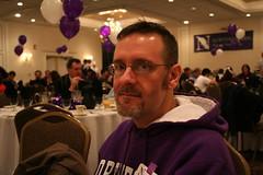 Phil in Purple (TerryJohnston) Tags: gay male boyfriend breakfast university phil nu tailgating northwestern alumniassociation nothwesternuniversity