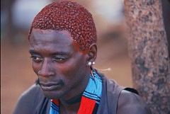 AFRICA - The Hamer people (BoazImages) Tags: life africa portrait man black beautiful topv111 hair mud earth style tribal blackpeople omovalley ethiopia tribe ethnic indigenous hamer earing theface omo