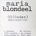 crox 30 maria blondeel G(ONDER) instalraam: locatie onderstraat 51 oktober 1995  croxhapox Ghent Gent Belgium