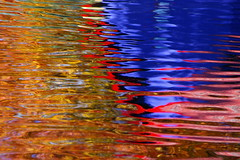 Pond Reflections at Granville Island (rldock) Tags: abstract water vancouver